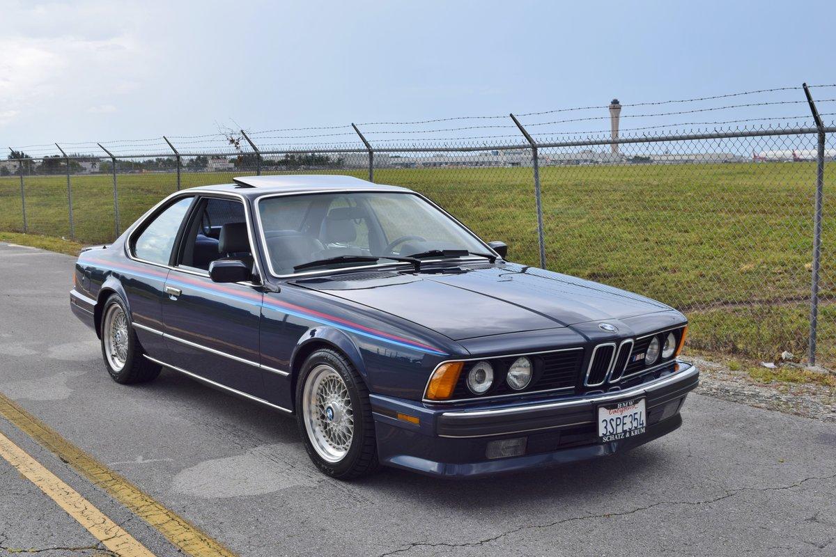 1988 BMW M6 E24 = Cali Car Rare Blue(~)Dove Manual $32.9k For Sale (picture 1 of 6)