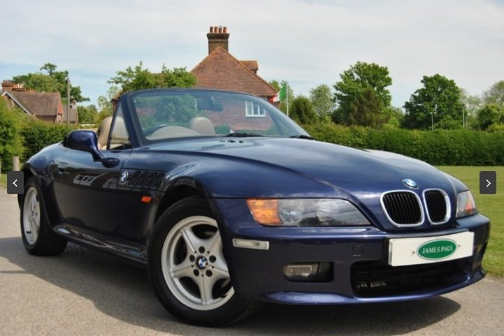 1998 BMW E36 Z3 2.8 Roadster Manual finished in Montreal Blue For Sale (picture 2 of 6)