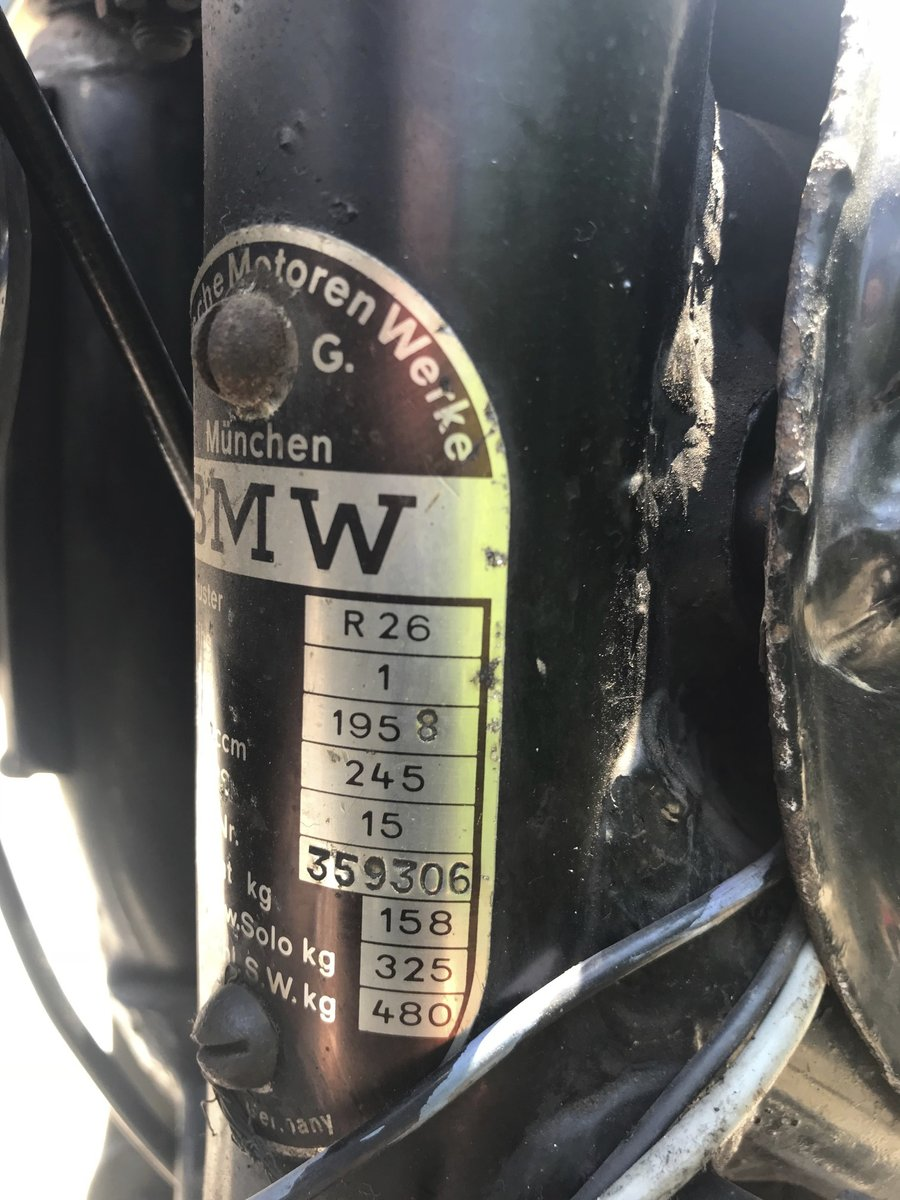 1958 BMW - R26 For Sale (picture 6 of 6)