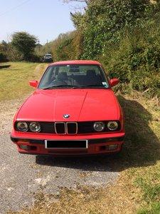 BMW E30 Series 320i 1991 Classic Red Petrol Saloon