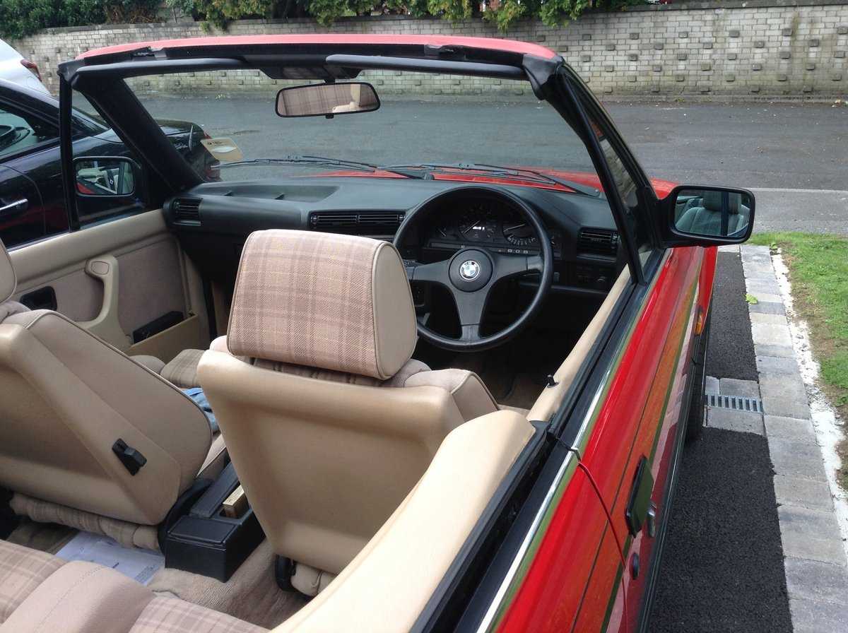 1988 BMW E30 325i cabriolet  For Sale (picture 5 of 6)