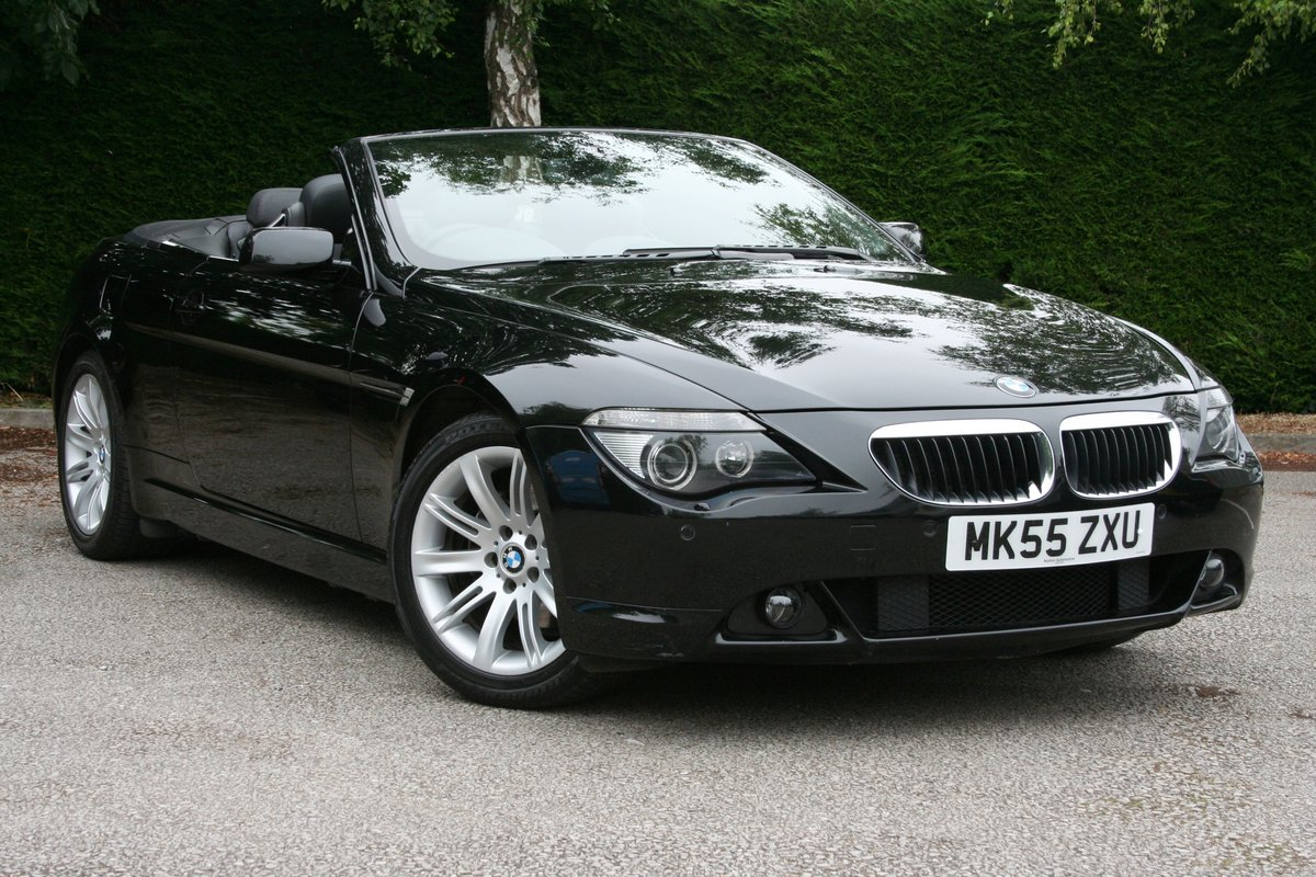 2005 BMW 630i Auto Convertible - Low Miles SOLD (picture 1 of 6)