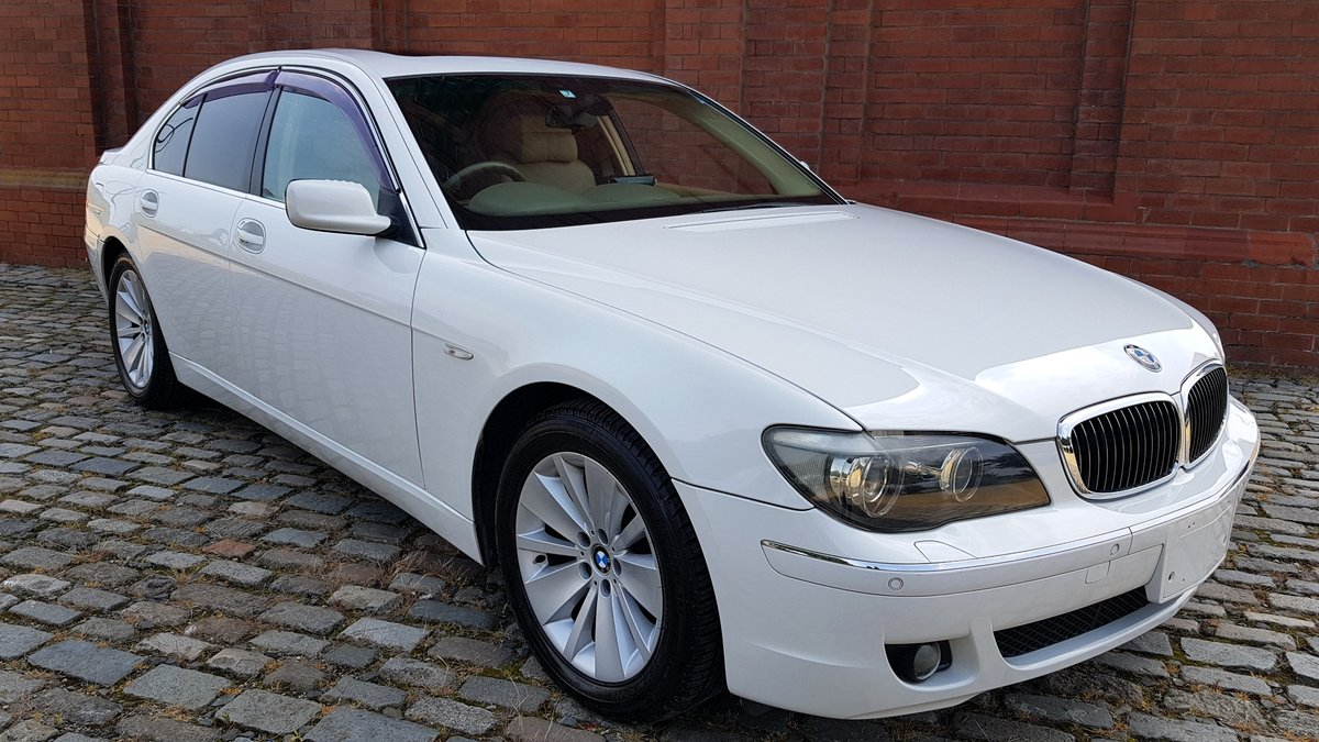 2007 BMW 7 SERIES 750i 4.8 AUTOMATIC * RARE WHITE * SUNROOF *  For Sale (picture 2 of 6)