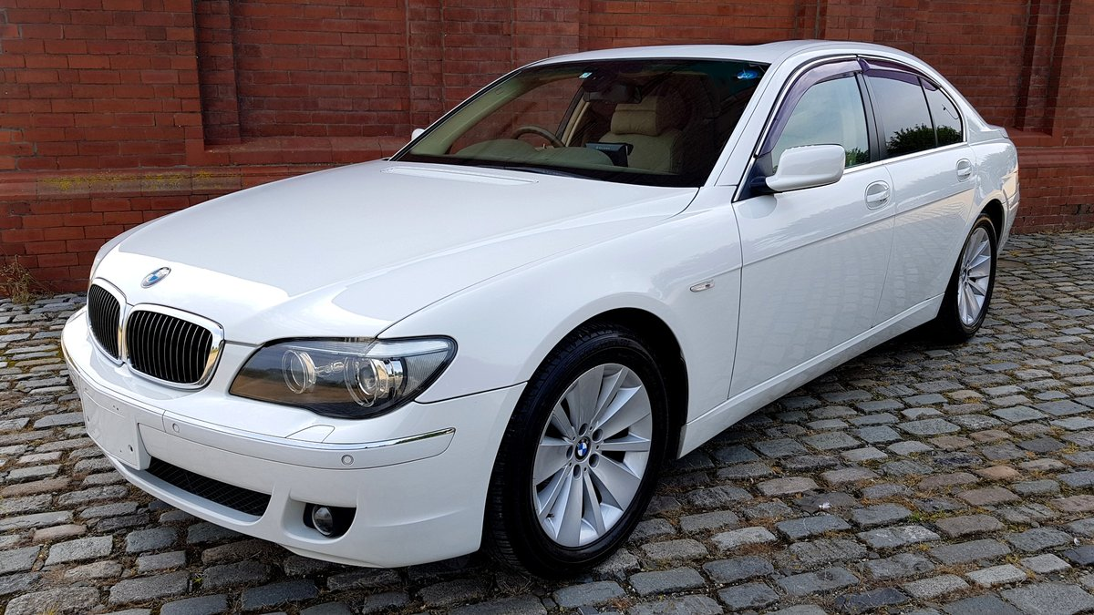 2007 BMW 7 SERIES 750i 4.8 AUTOMATIC * RARE WHITE * SUNROOF *  For Sale (picture 1 of 6)