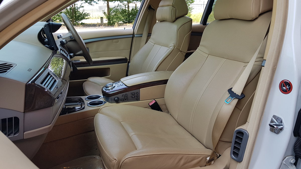 2007 BMW 7 SERIES 750i 4.8 AUTOMATIC * RARE WHITE * SUNROOF *  For Sale (picture 4 of 6)