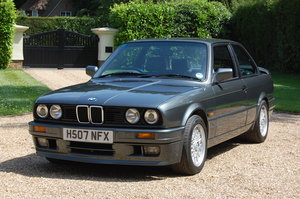 1990 BMW 325i Sport - Dolphin Grey/Black Leather For Sale