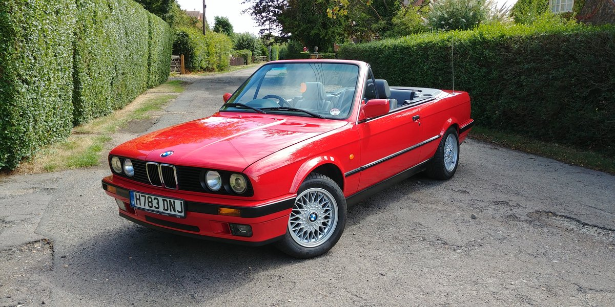 1991 BMW E30 320 cabriolet For Sale (picture 1 of 6)