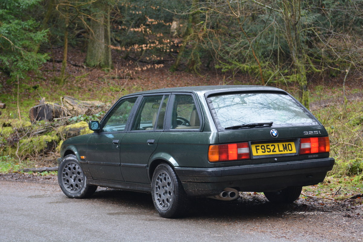 1988 BMW E30 325i Touring, malachite green beige sports For Sale (picture 2 of 6)