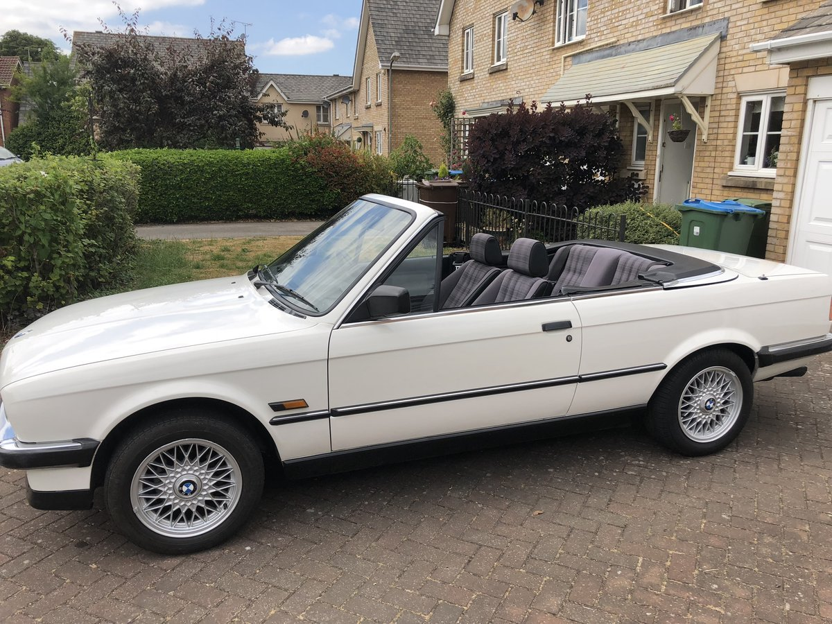 1990 BMW 325i Cabriolet Manual 80k miles FSH For Sale (picture 1 of 6)