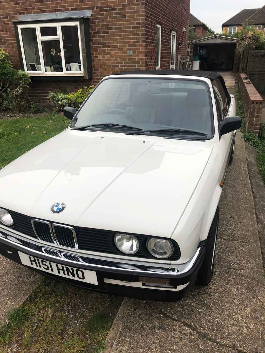 1990 BMW 325i Cabriolet Manual 80k miles FSH For Sale (picture 2 of 6)