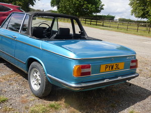 1973 Rare RHD BMW 2002 Baur convertible For Sale
