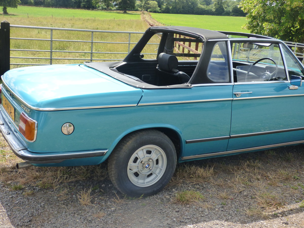 1973 Rare RHD BMW 2002 Baur convertible For Sale (picture 2 of 6)