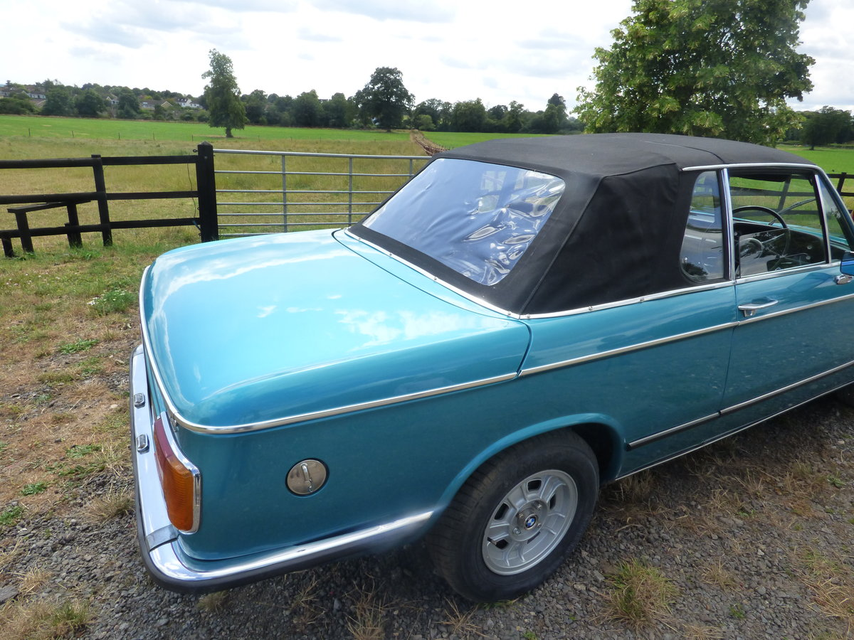 1973 Rare RHD BMW 2002 Baur convertible For Sale (picture 5 of 6)