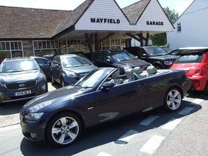 2007 E93 BMW 335 SE . Monaco Blue with Jade Grey Dakota leather. For Sale