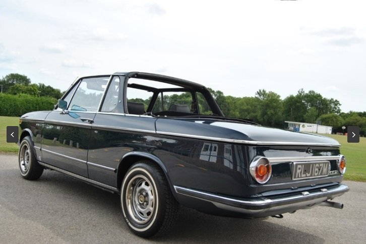1973 BMW 2002 BAUR CABRIOLET - 1 OF 354 RHD CARS For Sale (picture 4 of 6)