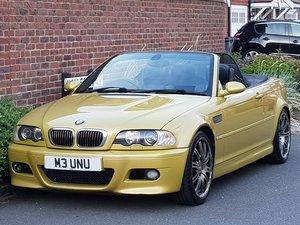 BMW M3 3.2 CONVERTIBLE PHOENIX YELLOW - 2004/04 - MANUAL  For Sale