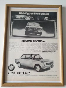 1970 Original  BMW 2002 Advert