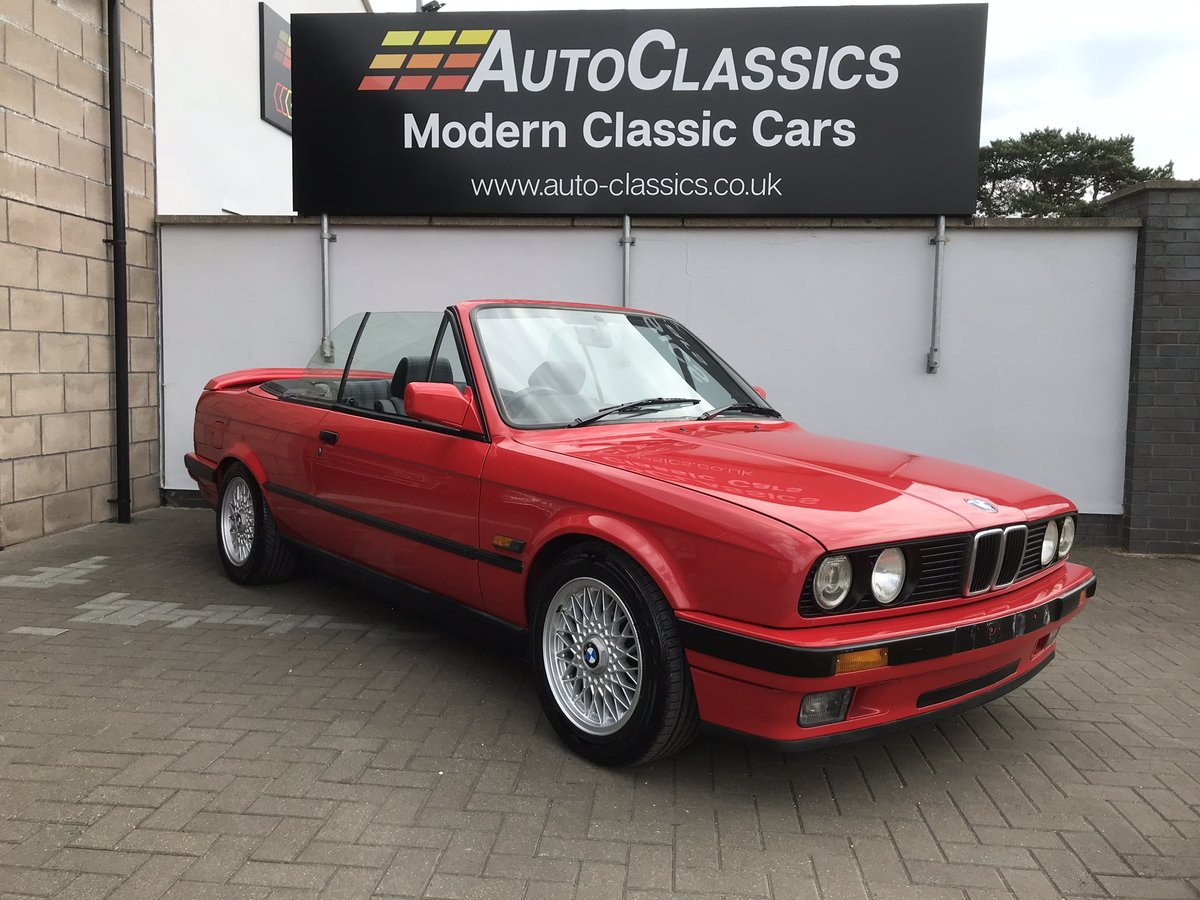 1991 BMW 318i Convertible, Manual  SOLD (picture 1 of 6)