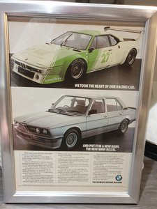 Original 1981 BMW M535i Framed Advert