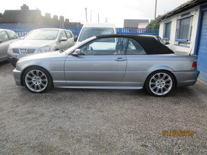 2005 325 I METALLIC GREY WITH  BLACK LEATHER TRIM 80K CONVERTIBLE For Sale