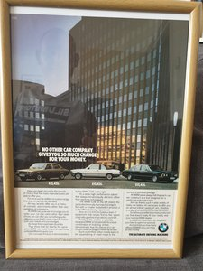 1981 Original BMW Advert