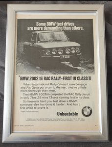 1973 BMW 2002 tii advert Original