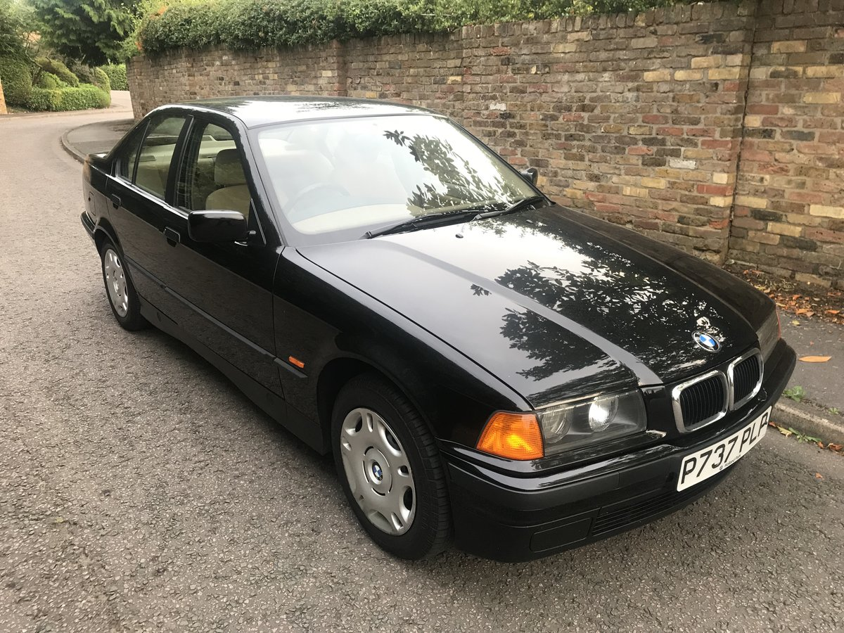 1997 BMW 316I SALOON ONLY 18500 MILES FROM NEW ABSOLUTELY SUPERB For Sale (picture 1 of 6)