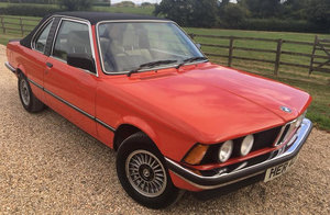 1982 BMW 320I BAUR CONVERTIBLE For Sale by Auction