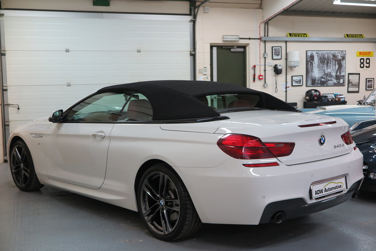 2015 65 BMW 640 3.0TD ( 313bhp ) Steptronic d M Sport Cab For Sale (picture 2 of 6)