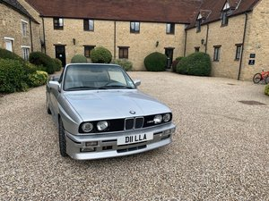1991 BMW M3 e30 convertible in silver Rare