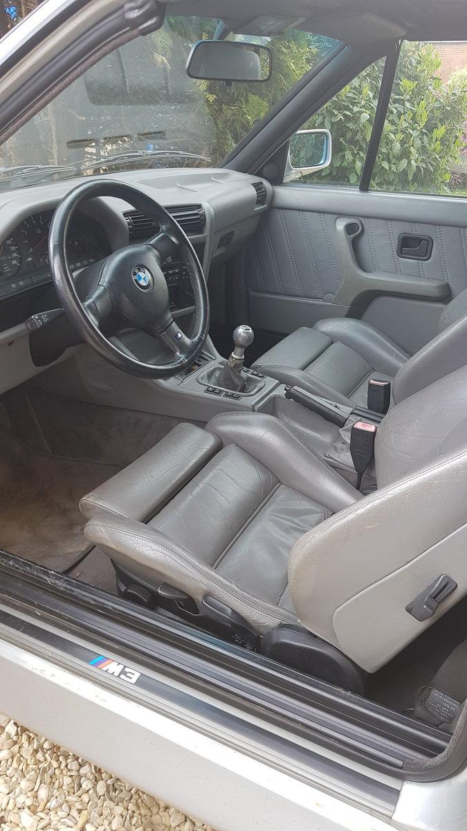 1991 BMW M3 e30 convertible in silver Rare  For Sale (picture 5 of 6)