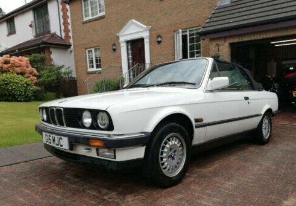 1990 BMW E30 325i Convertible, White Auto private For Sale (picture 1 of 6)