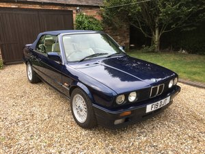 1991 BMW 325i Cabriolet E30 Blue with MOT. SOLD