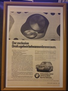 1971 Original BMW 2800 Advert