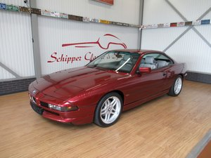 1992 BMW 850CI with just 66.000km!!! Calypso red