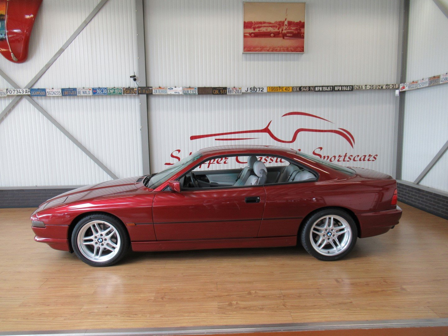 1992 BMW 850CI with just 66.000km!!! Calypso red For Sale (picture 2 of 6)