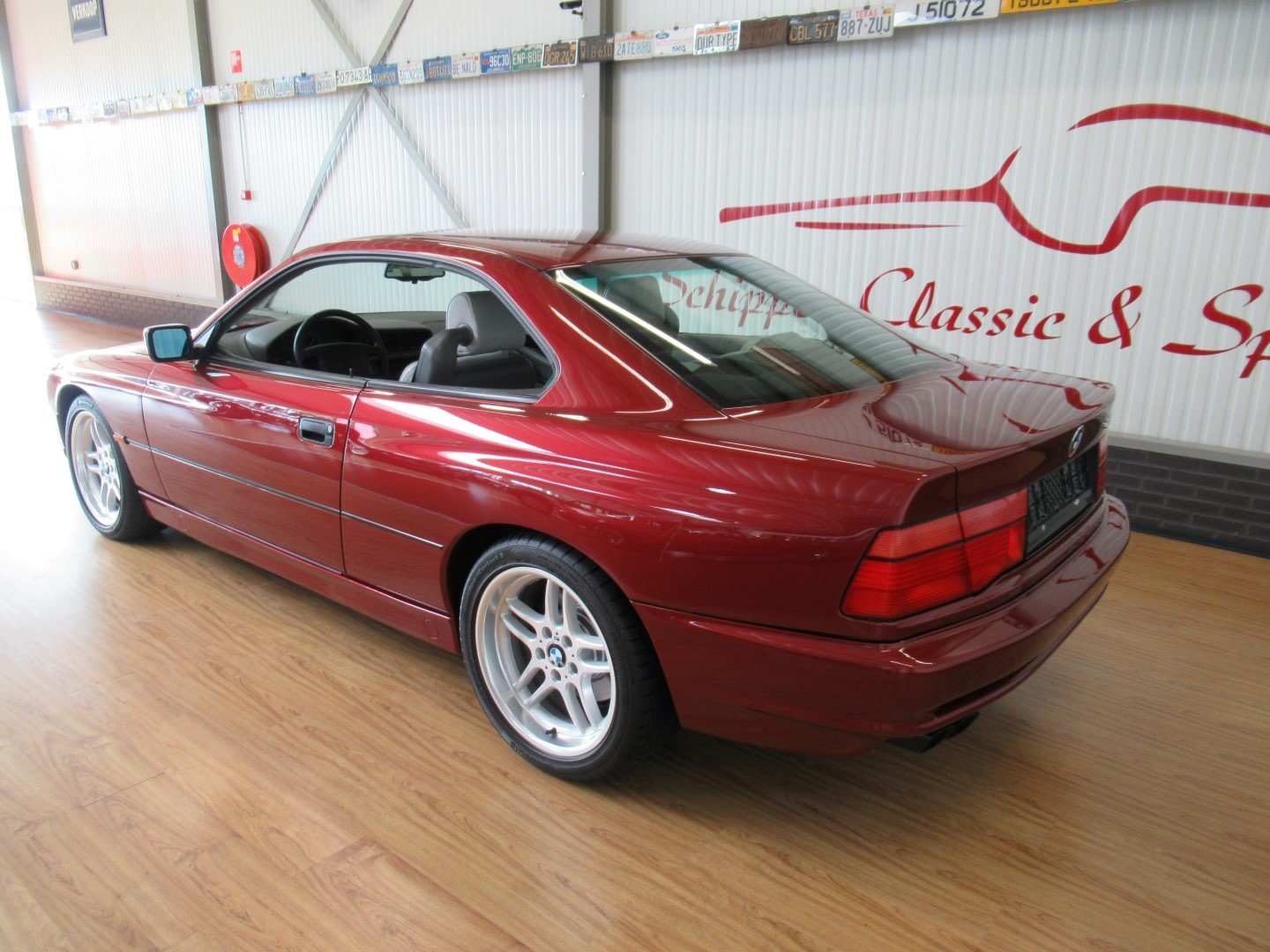 1992 BMW 850CI with just 66.000km!!! Calypso red For Sale (picture 3 of 6)