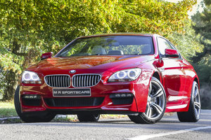 BMW 650I M SPORT 2014 Imola Red Ivory White M6 Wheels For Sale