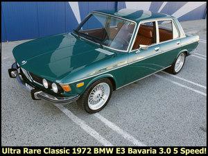 1972 BMW E3 Bavaria 3.0 5 Speed Factory Sunroof Rare $16.5k For Sale