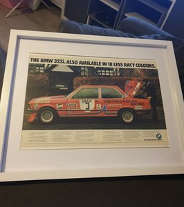 1980 BMW 323i Advert Original  For Sale