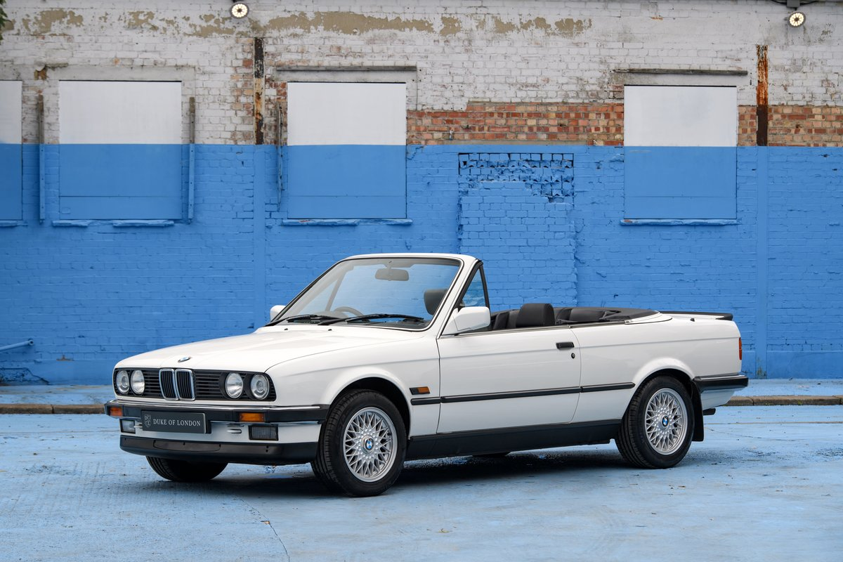 1990 BMW E30 320i Convertible Automatic For Sale (picture 1 of 10)
