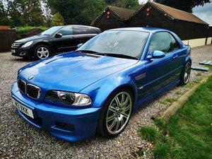 2003 BMW m3 csl spec, convertible, estoril blue