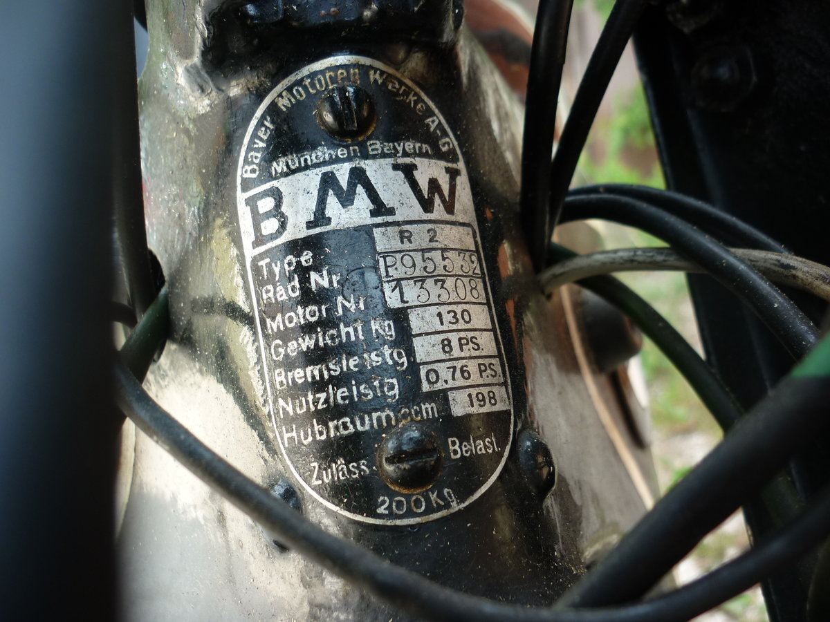 1936 BMW R2 with original numbers - serie5 For Sale (picture 6 of 6)