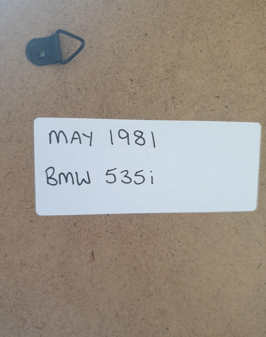 1981 Original BMW 535i Framed Advert For Sale (picture 2 of 2)