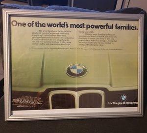 BMW Framed Advert Original