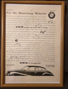1957 BMW Framed Advert Original