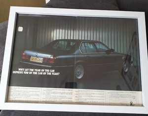 1989 BMW 735i Advert Original