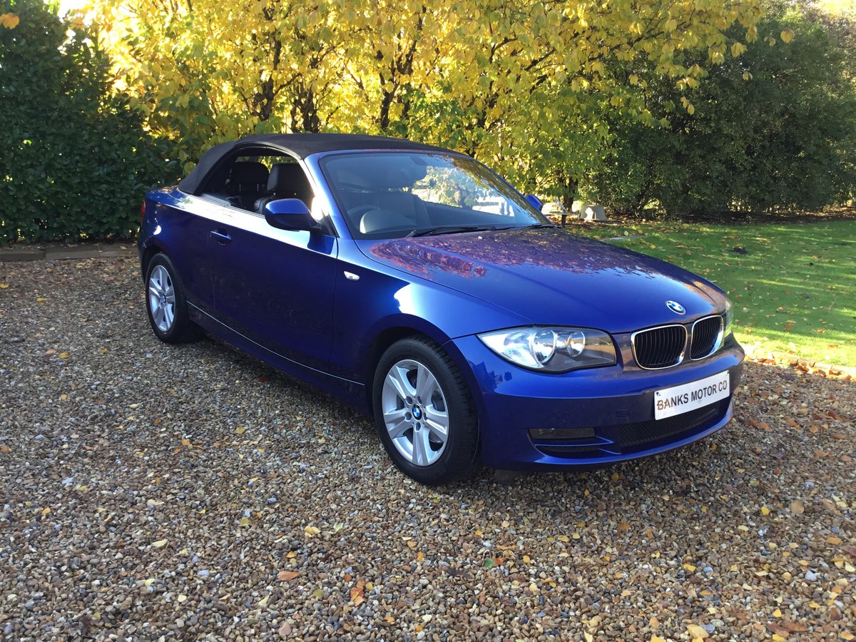BMW 120d SE Automatic Convertible 2010/10 For Sale (picture 1 of 6)