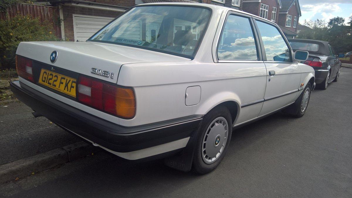 BMW E30 316i 1990 Alpine white with Indigo cloth. SOLD (picture 2 of 6)