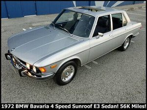 1972 BMW E3 BAVARIA Sedan Manual Silver Solid $19.9k
